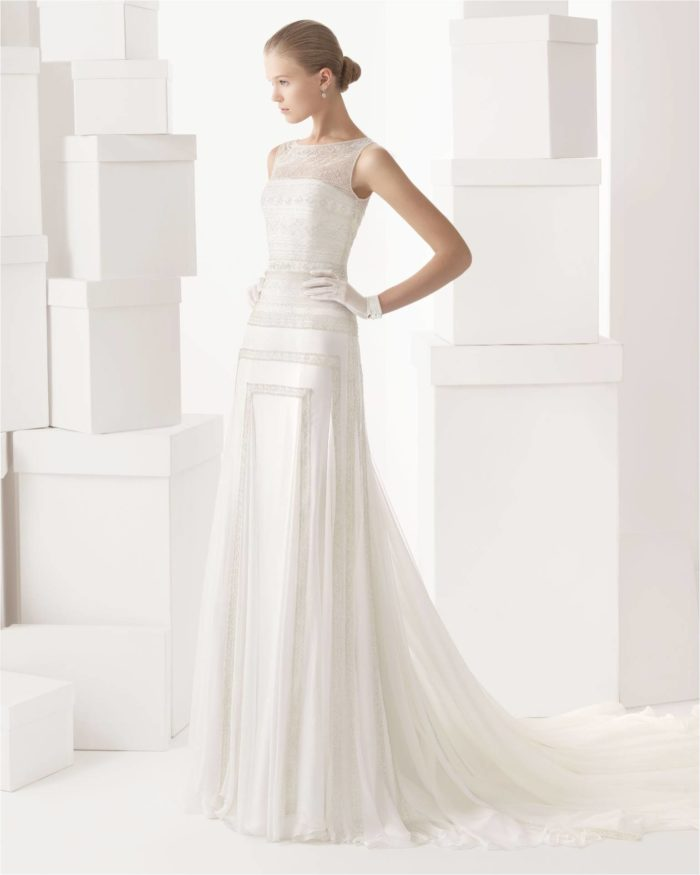 Cintia by Rosa Clara Beaded Wedding Gown in an Art Deco Style