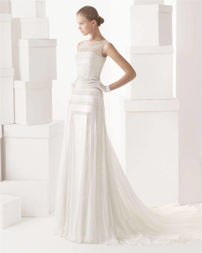Cintia by Rosa Clara Beaded Wedding Gown in an Art Deco Style