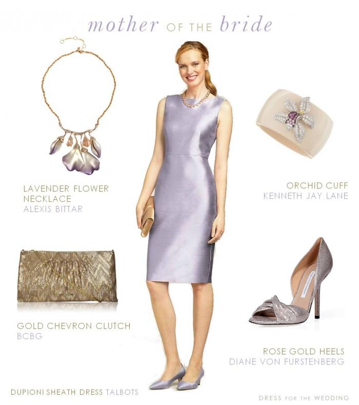 Lavender Mother of the Bride Dress