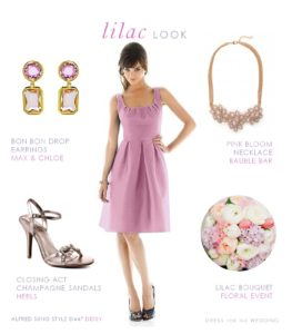 Lilac Bridesmaid Dress and Accessories