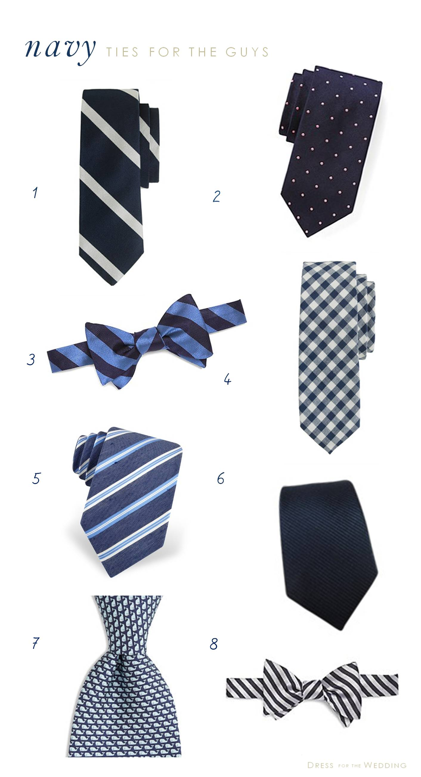 Navy Ties for Groomsmen