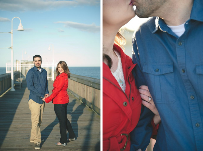 Wear solids to your engagement photos