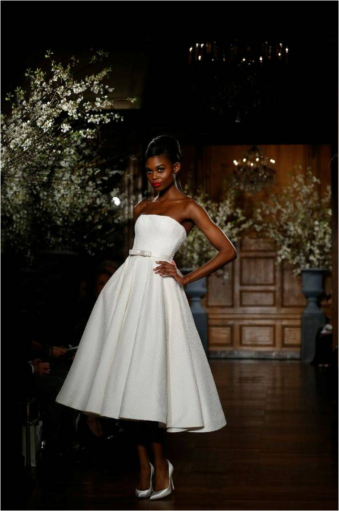 Romona Keveza Spring 2014 Beaded Waltz Length Gown