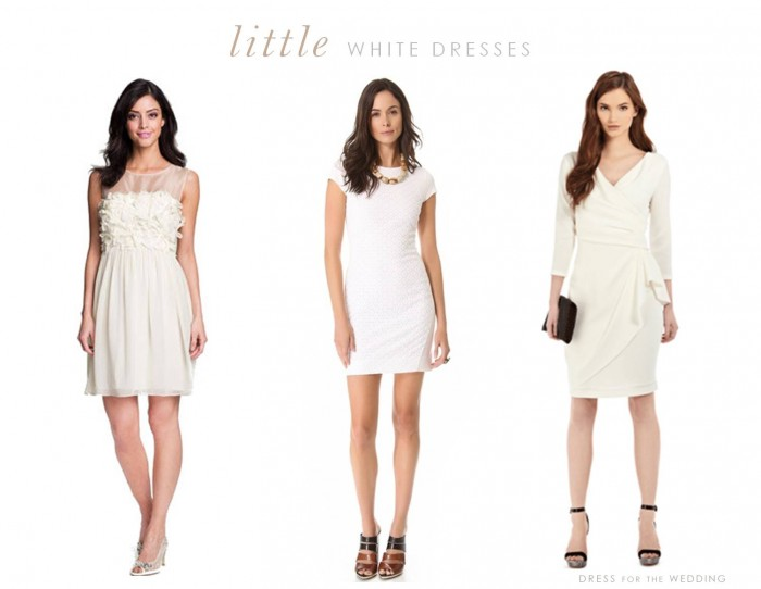 Little white dresses for the bride to wear to her bridal shower