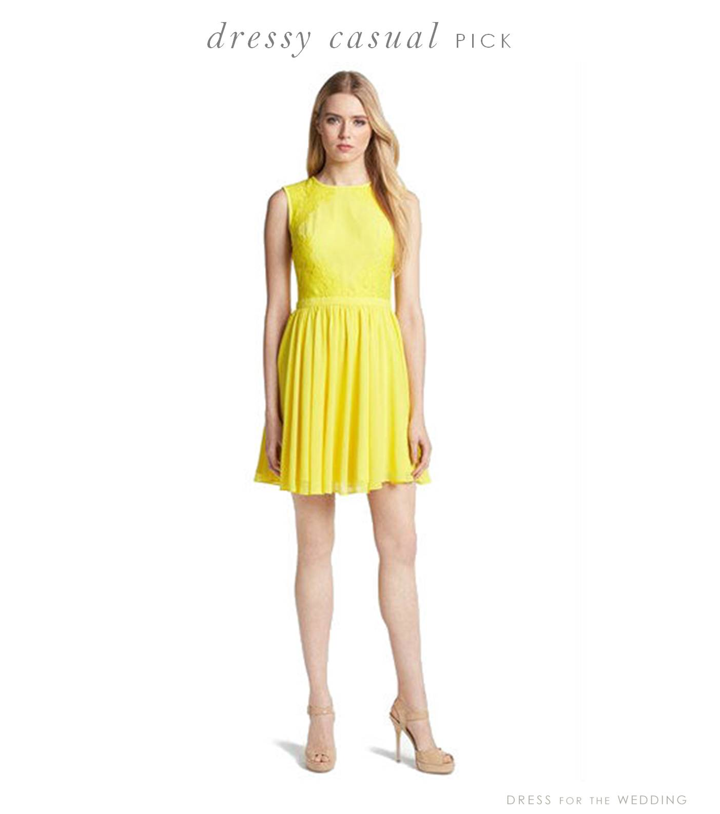 Yellow Dressy Casual Dress