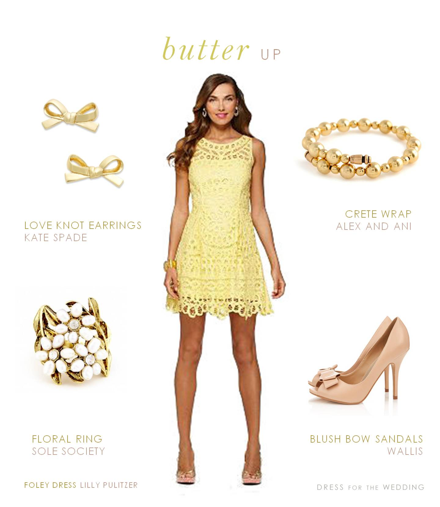 Yellow lace dress for Where to shop for dresses to wear to a wedding