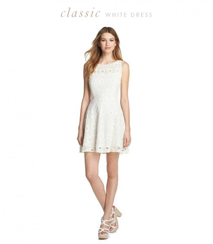 white dress for bridal shower