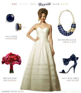 Red, White, and Blue for a Bride
