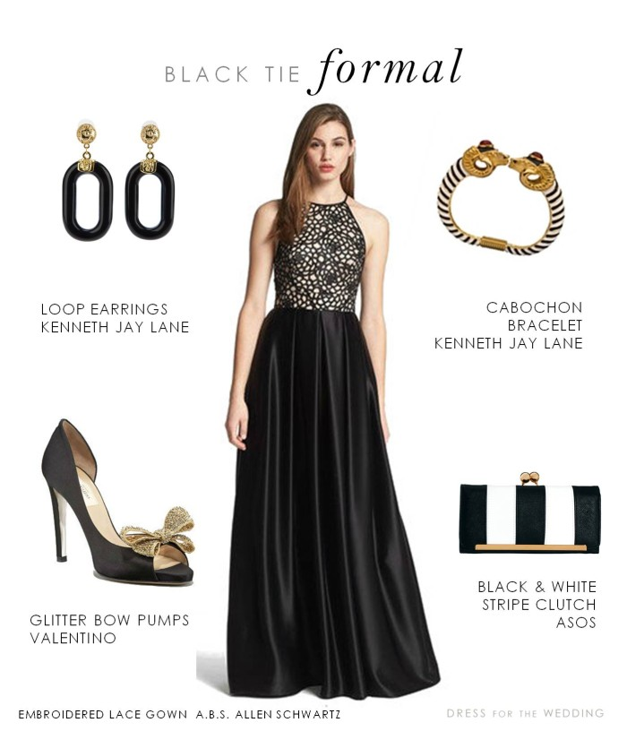 Ladies dress code for black tie events