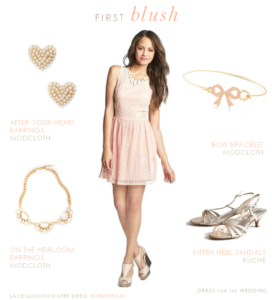 Blush Dress for a Junior Bridesmaid