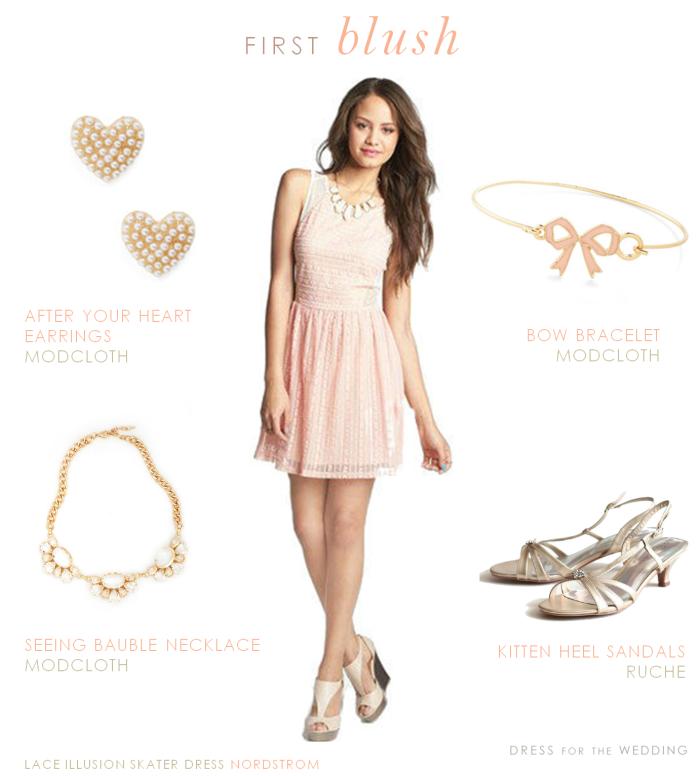 Blush dress for a junior bridesmaid for Wedding guest dress blush pink