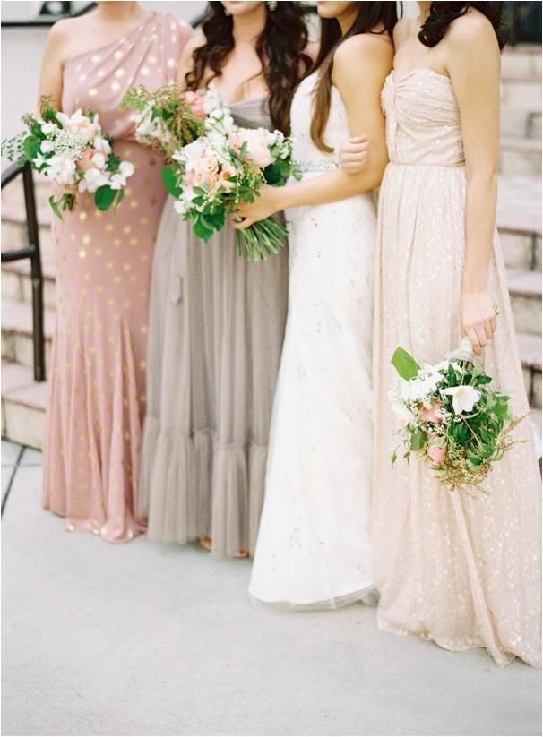Blush and Neutral Bridesmaids