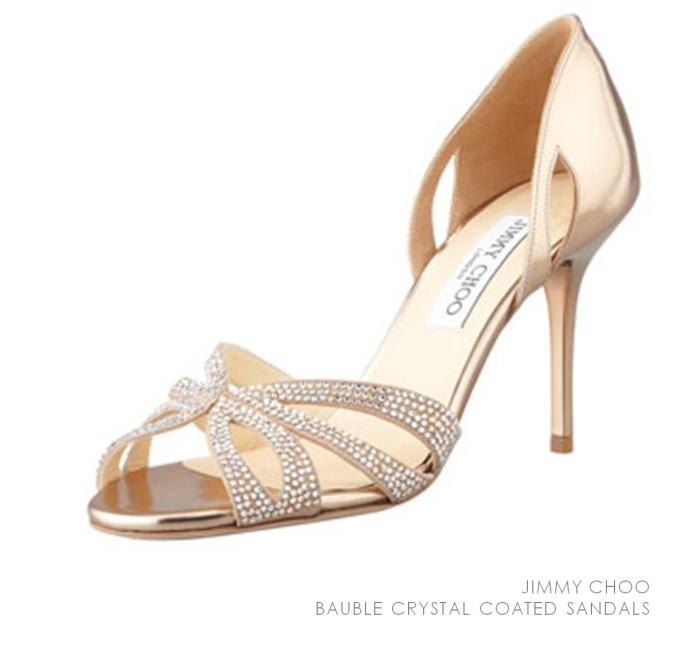 Jimmy Choo Crystal Coated Sandals