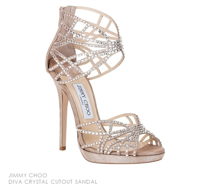 Jimmy Choo Diva Crystal Cutout Sandal