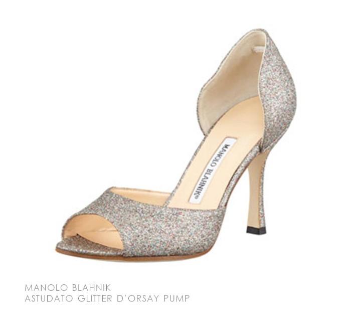 Manolo Blahnik Astudato Glitter Pump