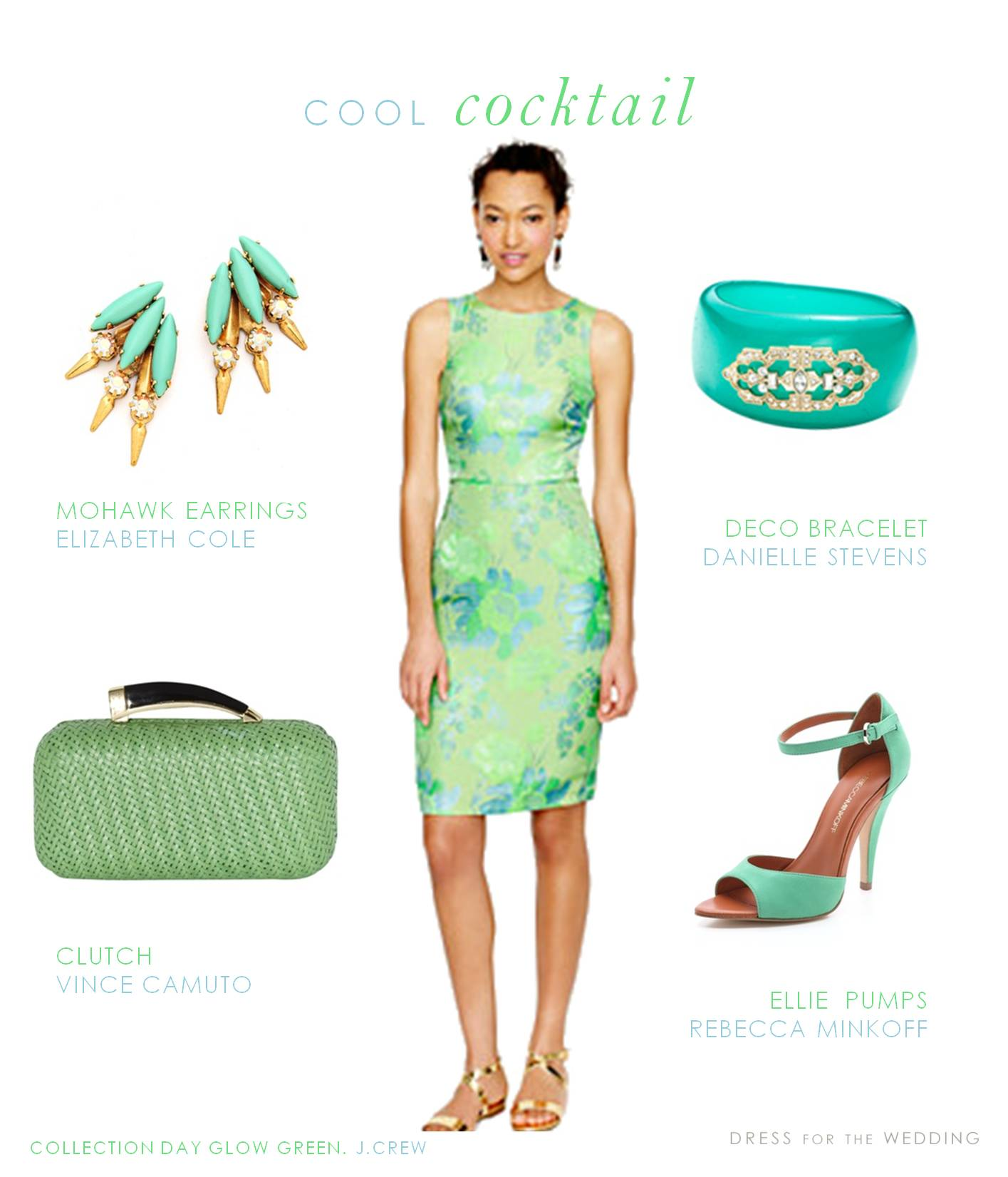 mint and aqua cocktail dress for a wedding guest