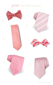 Pink Ties for Weddings