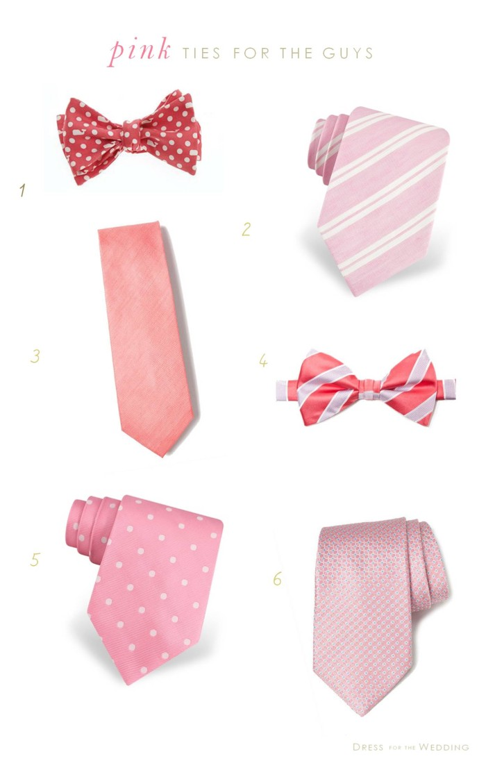 Pink Ties for Groomsmen | Pink Ties for Weddings
