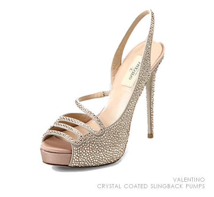 Valentino Crystal Coated Slingback Pumps