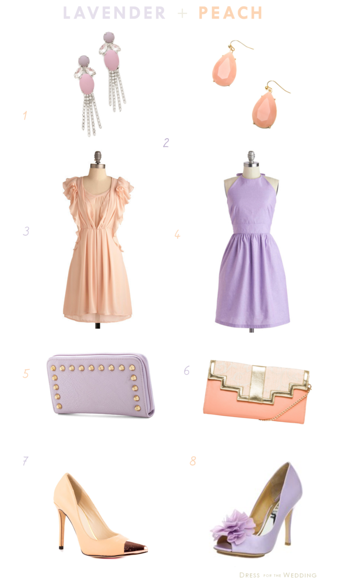 lavender and Peach