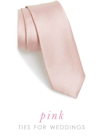 pink wedding ties