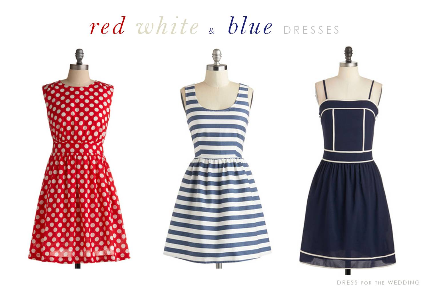 Red, White, and Blue Summer Dresses