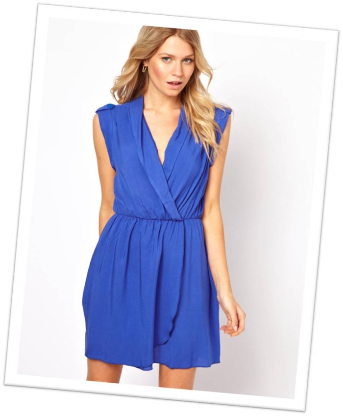 Blue Asos Wrap Dress