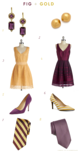Purple and Yellow Wedding Colors: Fig and Gold