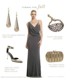 Formal Gray Gown for a Fall Wedding