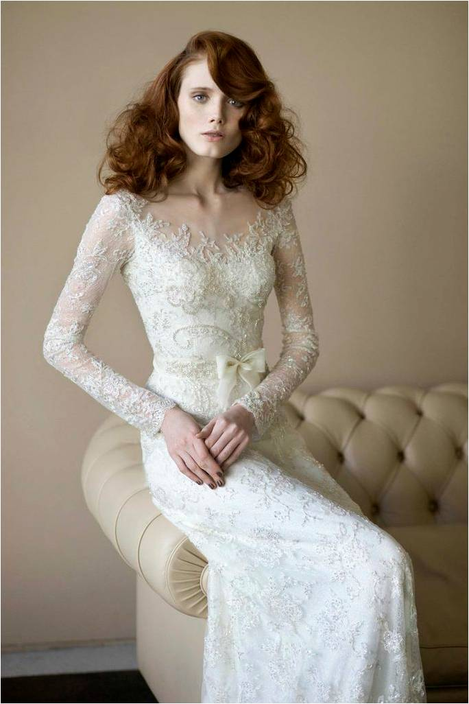 Lace Wedding Dress by Mira Zwillinger Angelina