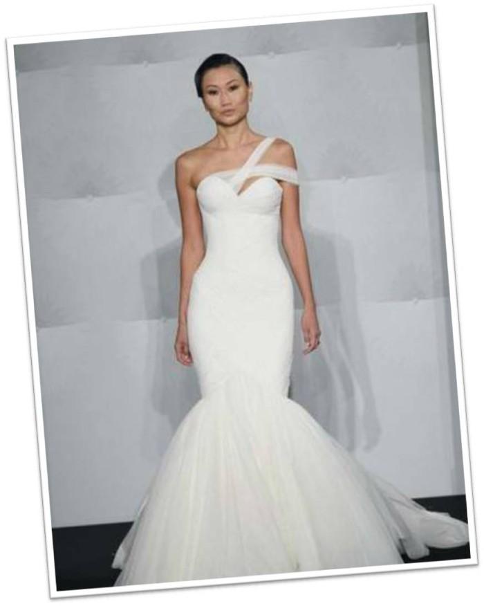Mark Zunino Asymmetrical Tulle Gown from Kleinfeld