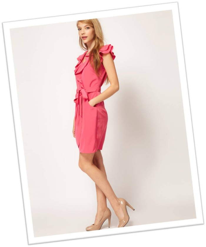 Pink Asos Ruffle Dress