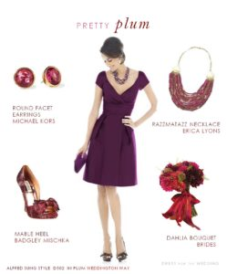Plum Bridesmaid Dress, Plum Wedding