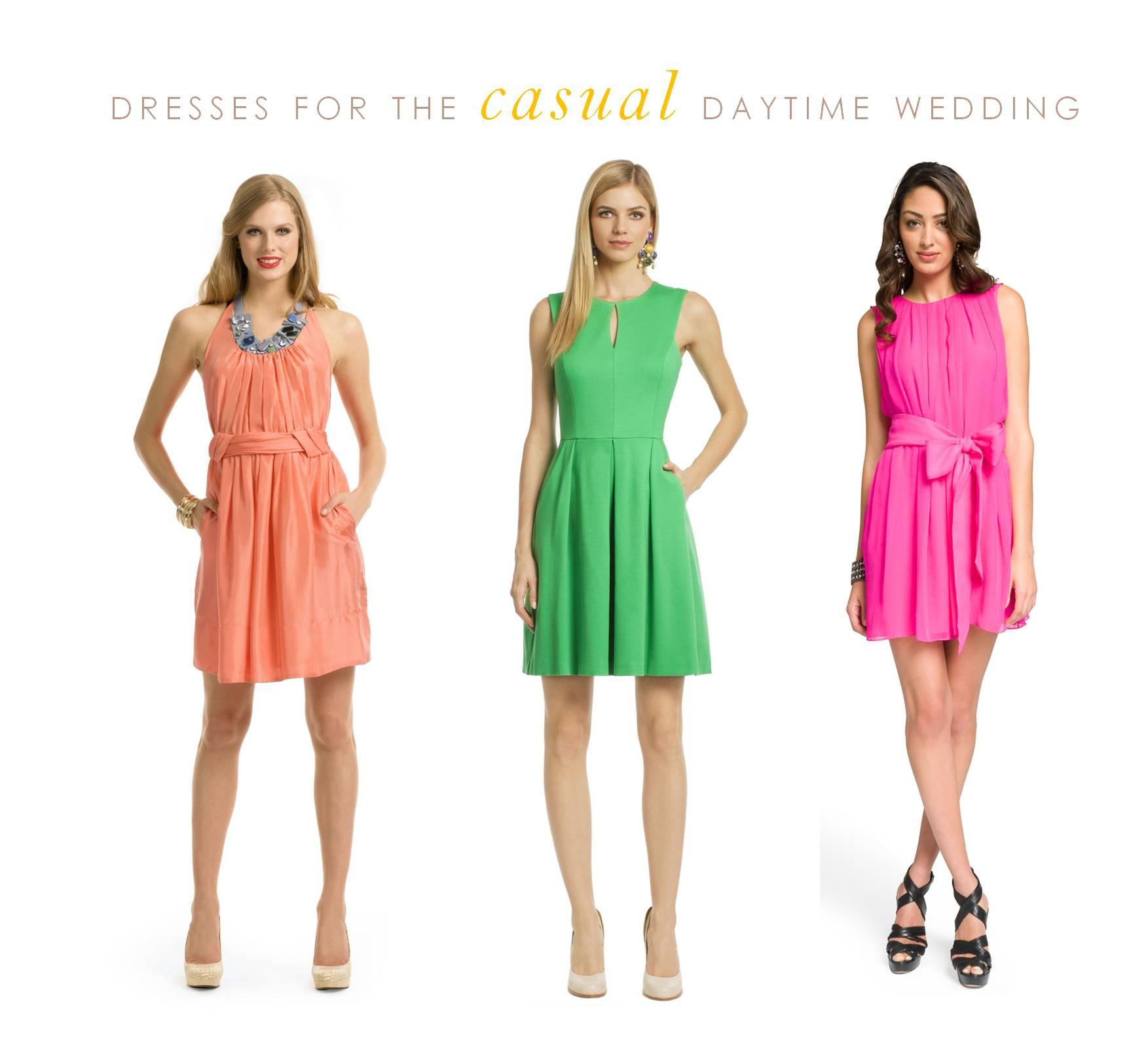 Daytime dresses for the guest of a wedding