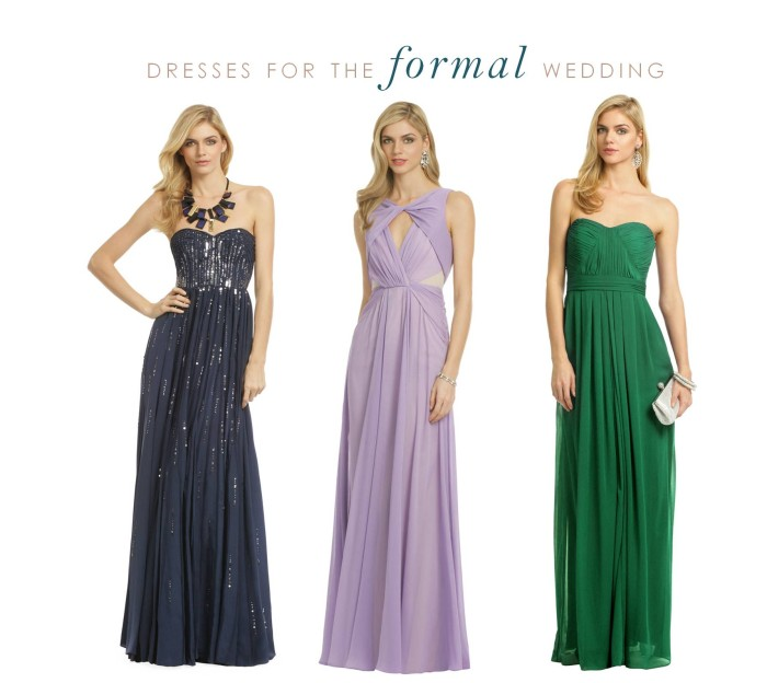 Evening Wear For Weddings: Dresses For Weddings