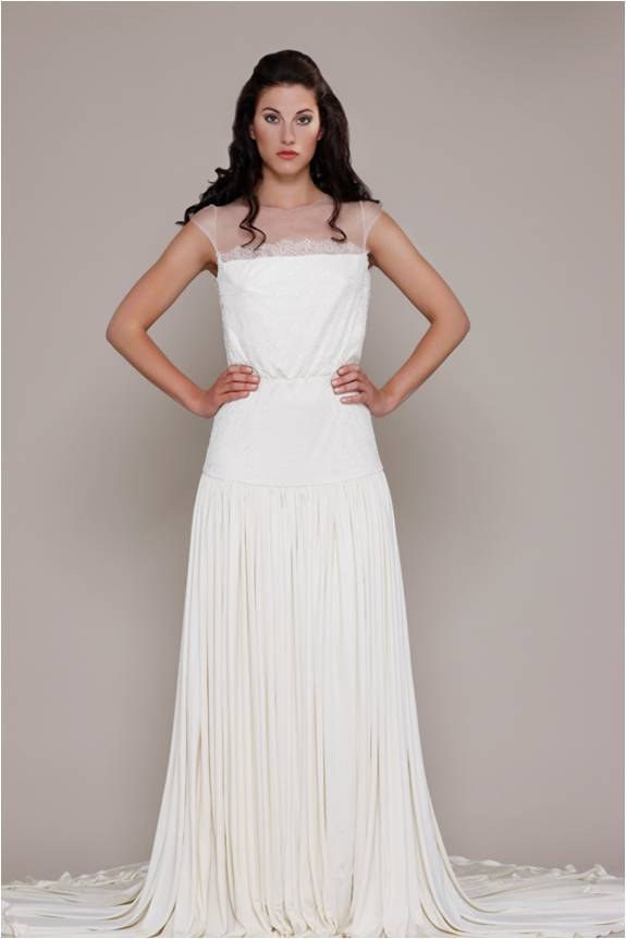 Elisabeth Stuart Illusion Neckline Wedding Dress