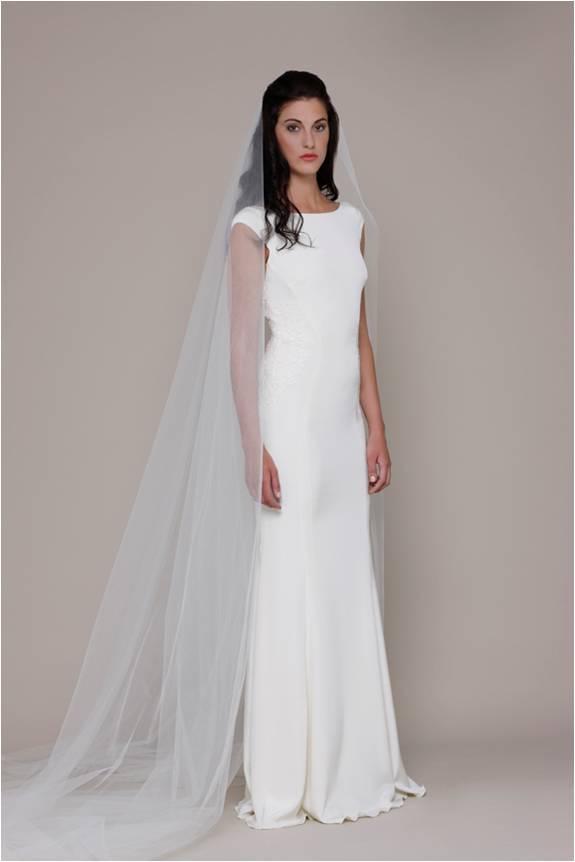 Elizabeth Stuart Cap Sleeve Sleek Wedding Dress