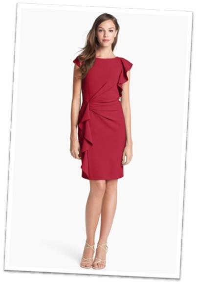 Garnet Red Dress for Wedding
