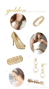 bridal accessories gold
