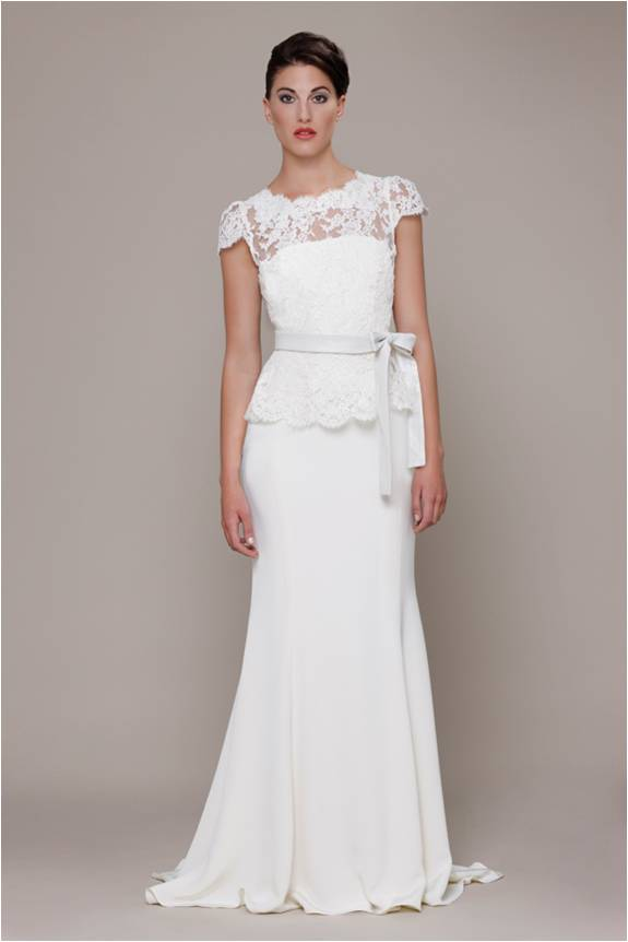 Lace top Wedding Dress by Elizabeth Stuart