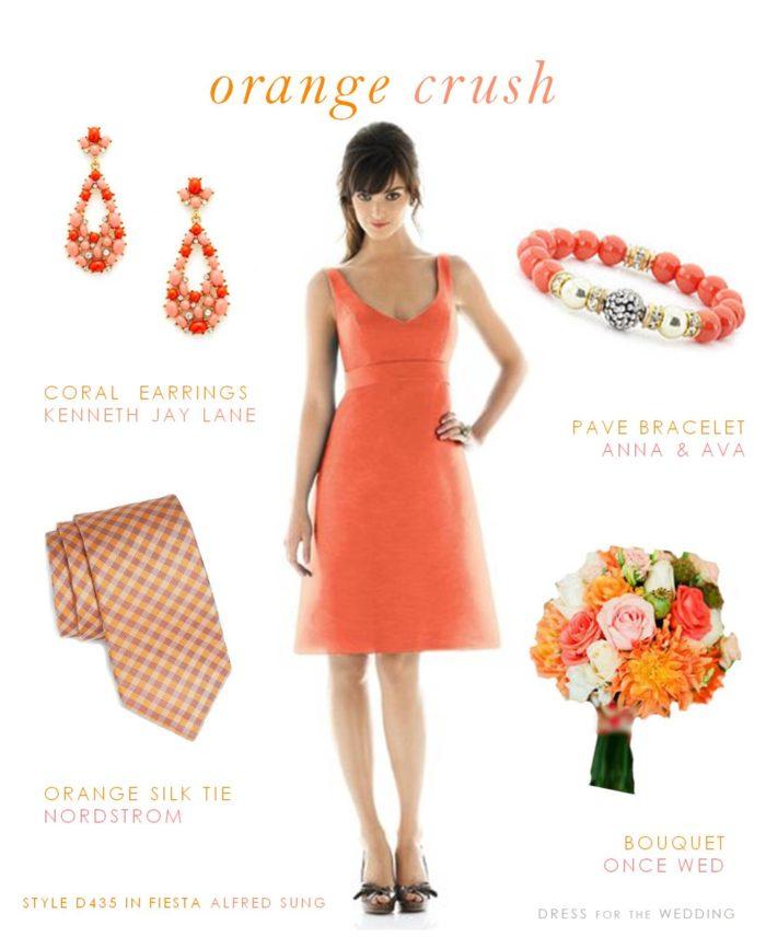 Orange Bridesmaid Dress