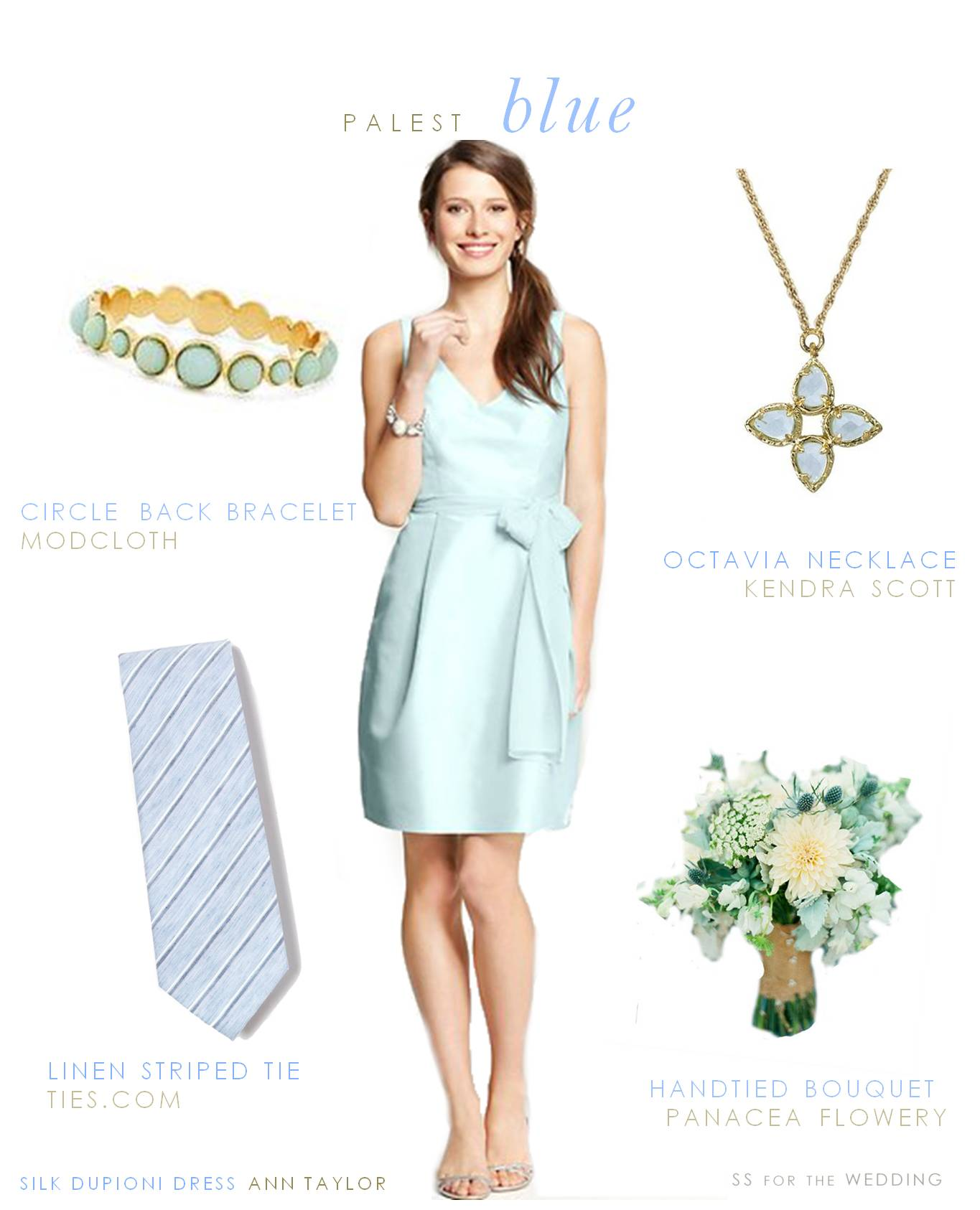 Pale Blue Bridesmaid Dresses 54