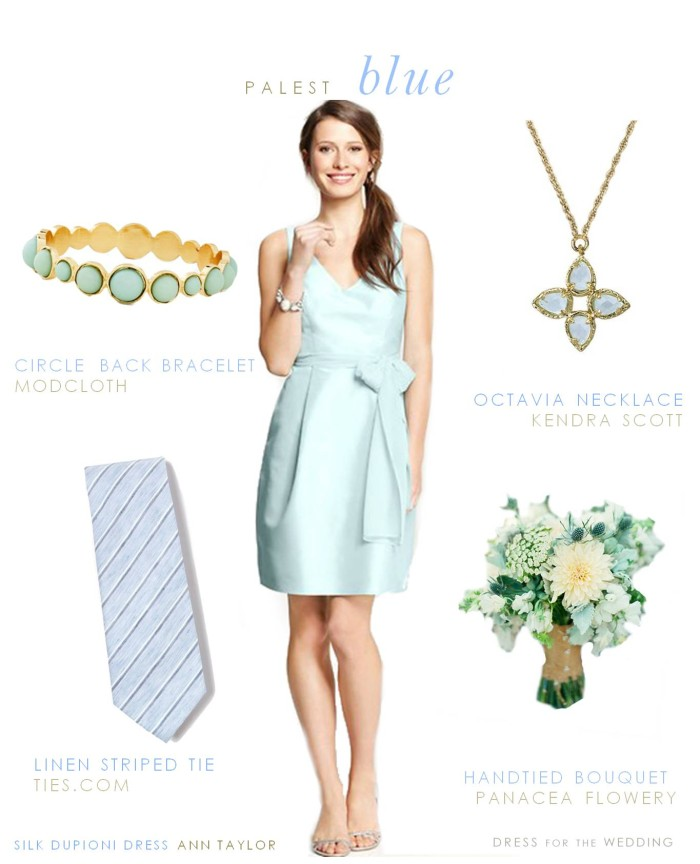 Pale Blue Bridesmaid Dress