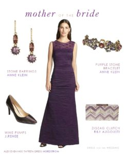 Purple Mother of the Bride Dress