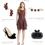 Ruby Dress with Black Accessories