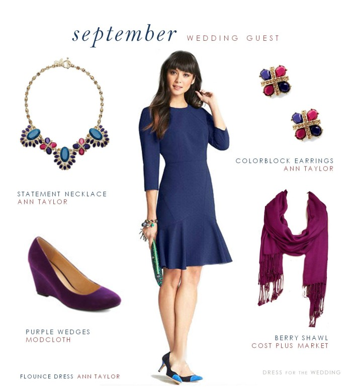 Dress For A Fall Wedding Guest September Outdoor Wedding