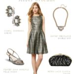 Silver Cocktail Dress , Silver Semi Formal Dress