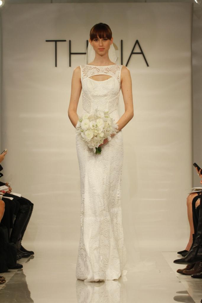 Geraldine Theia Keyhole Wedding Dress