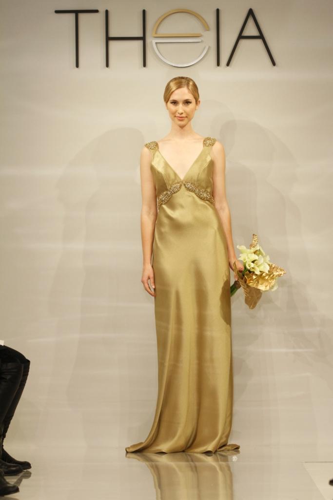 Elizabeth by Theia, Gold Wedding Dress