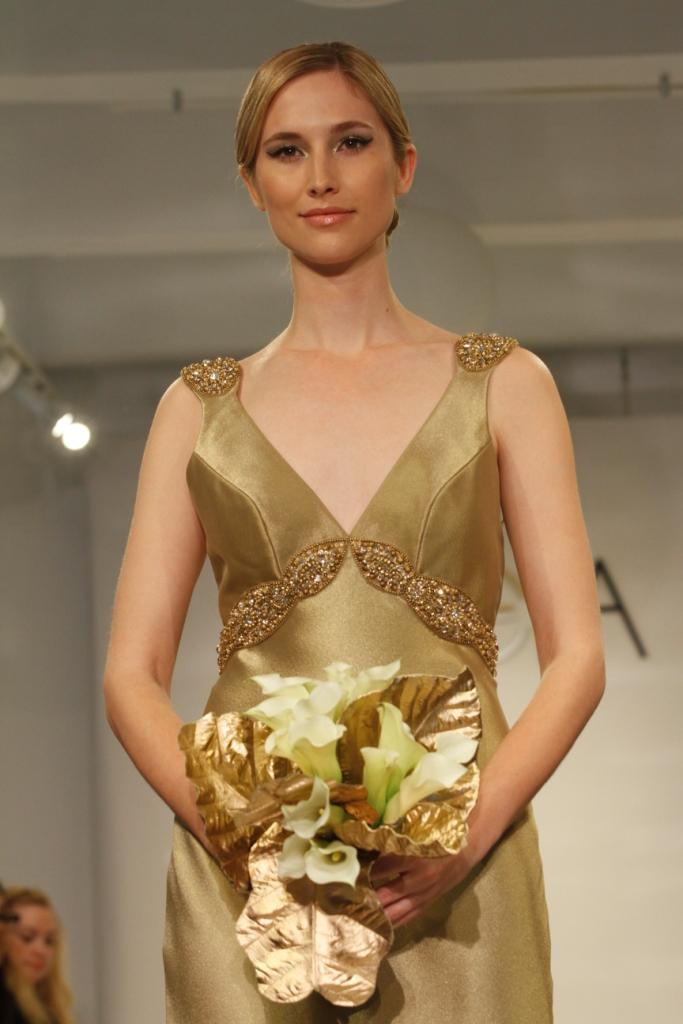 Gold Wedding Dress Elizabeth by Theia